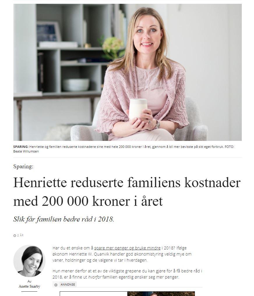 Artikler og omtale av Helomvending AS - Henriette W. Quanvik og Beate Willumsen