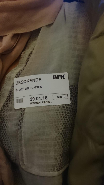 Radiointervju NRK Helomvending - Beate Willumsen